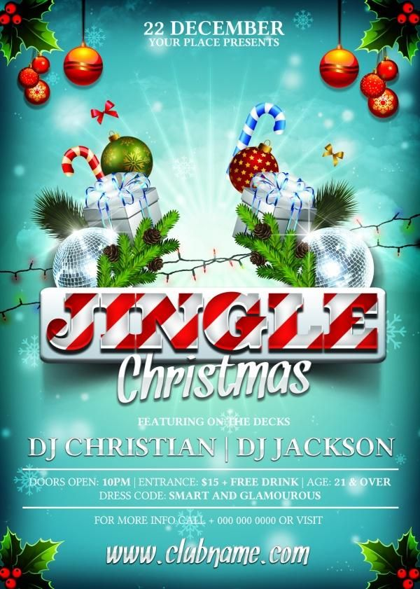Stylish Christmas Flyer Templates Source Files Work Ideas
