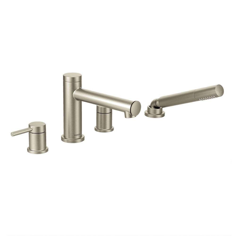 Moen Align Two Handle Deck Mount Diverter Roman Tub Faucet Trim