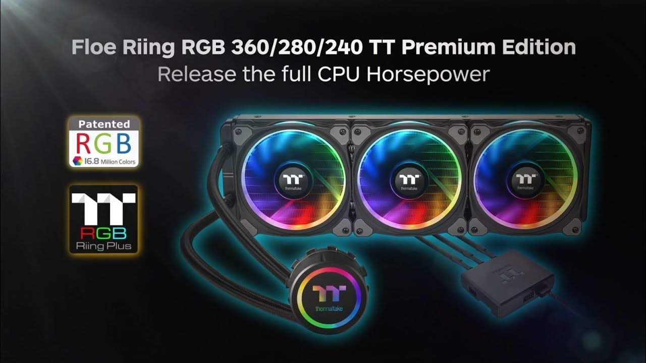 Thermaltake Water 3 0 Riing Rgb 360 Edition Aio Take Your Cpu To