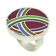 Temari Ring by LuLu Smith (Silver & Resin Ring)