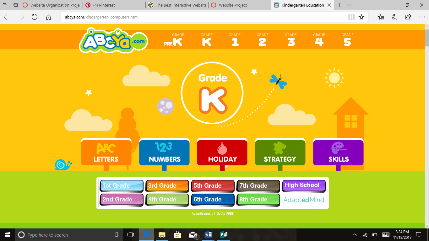 ABCya is a website that students can use either at home or
