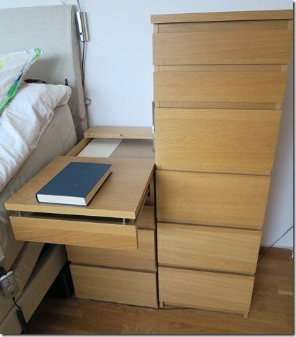 Malm Extendable Bedside Table Ikea Hack Bedside Table