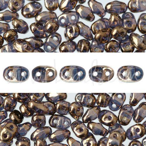 MiniDuo Perlen 2.5x4mm crystal bronze (10g)