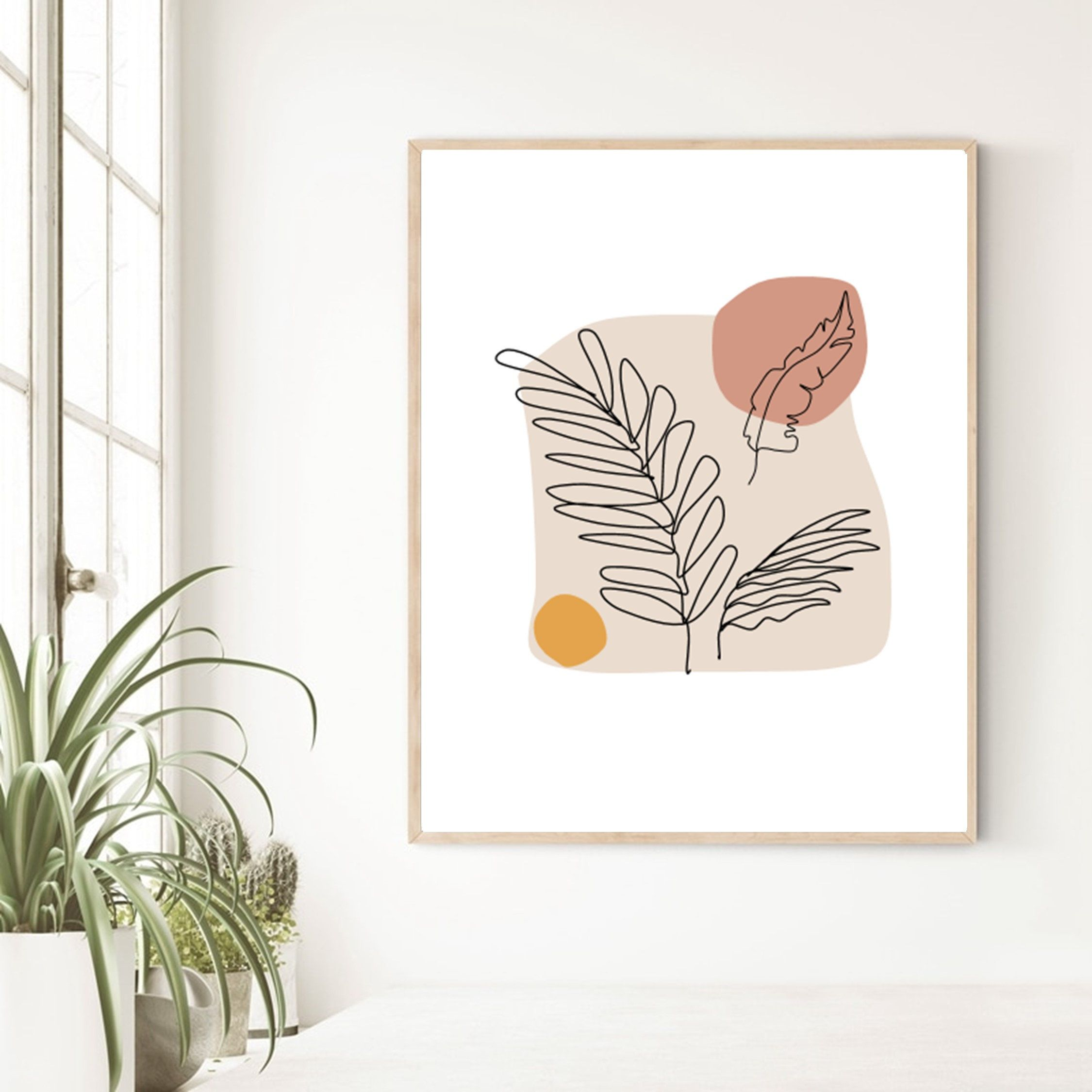 Abstract Botanical Art Print Modern Boho Wall Decor Printable Etsy In 2021 Art Gallery Wall Simple Wall Art Modern Art Abstract