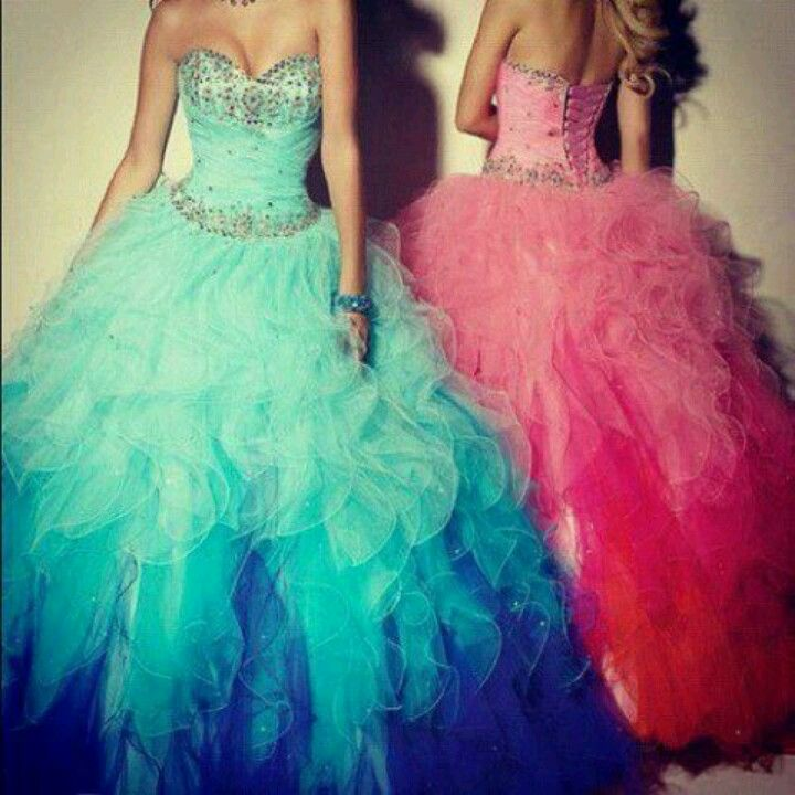 Blue and pink quinceanera dresses | quinceanera dresses ideas ...