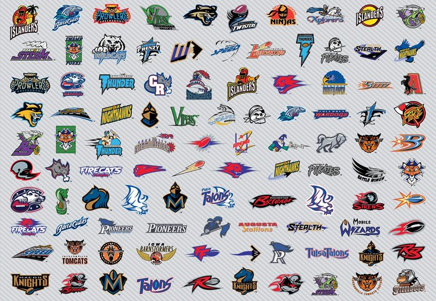 American Football Team Vector Logo Collection Of The Afl2 The Afl