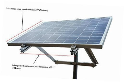 Side Of Pole Solar Panel Mount Rack For 30w To 120w Solar Panel 5 104 79 Solar Panels Solar Panel Cost Solar Panels For Home