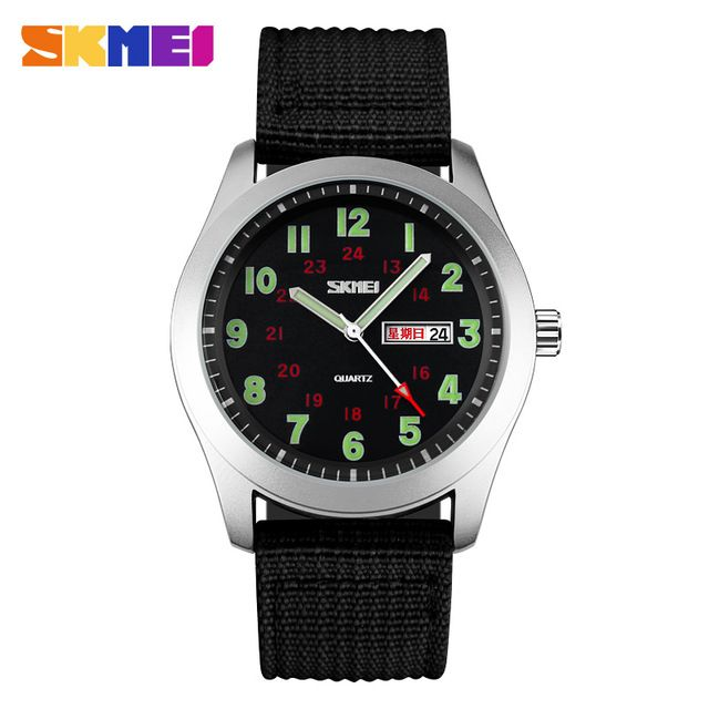 732de0a2175 Relógio Digital · Assistir Mulheres · Promotion price SKMEI Luxury Brand  Military Watch Men Quartz Analog Clock Nylon Strap Clock Man Sports