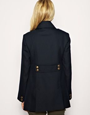 Enlarge French Connection Maternity Military Bib Coat Exclusive to ASOS
