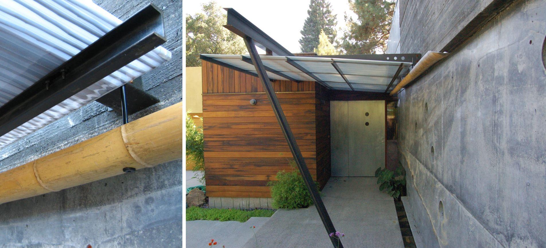house 6 by cheng design  concrete house  modern  entryway  pivot door  bamboo gutter  fu