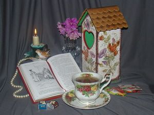 LaniraM. Чайный домик. Декупаж.
