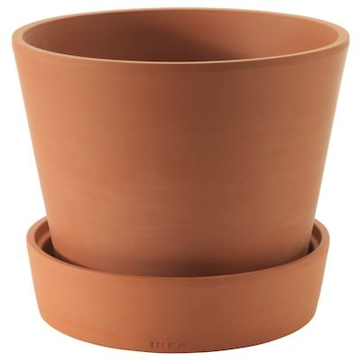 Klabb Floor Lamp With Led Bulb Off White Ikea In 2020 Terracotta Plant Pots Potted Plants Terracotta