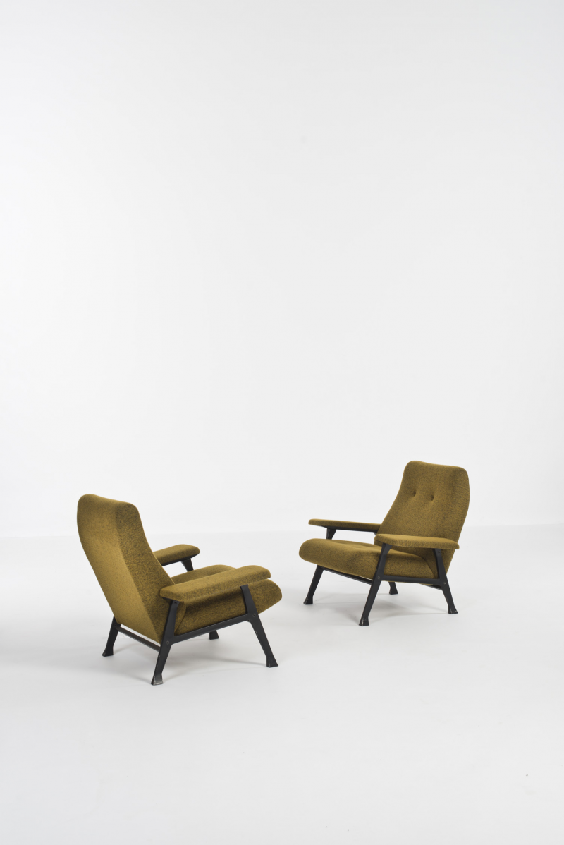 "Roberto Menghi; ""Hall"" Chairs for Arflex, 1958."