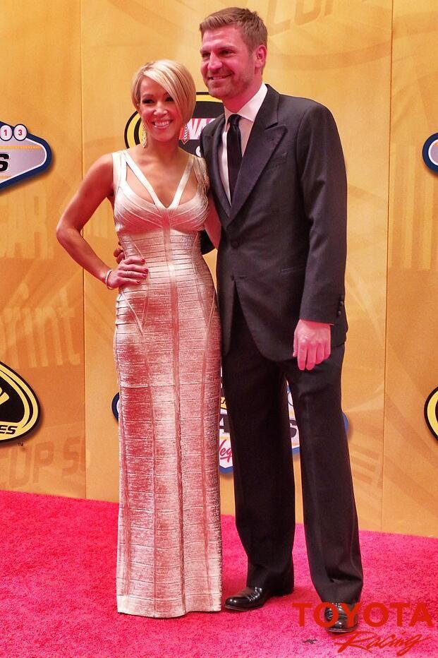 Clint Bowyer & Lorra Podsiadlo at the 2013 NASCAR Awards Banquet