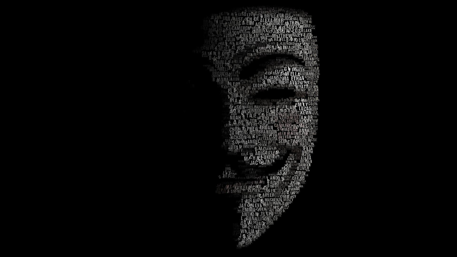 Black Background Anonymous V For Vendetta Fantasy Art