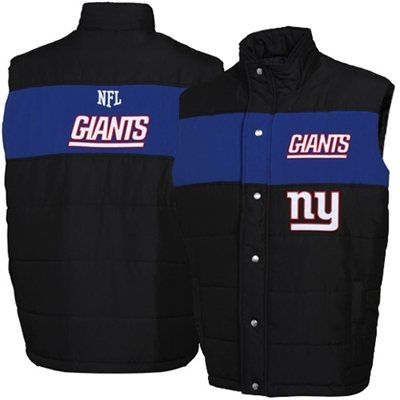 reputable site 989a1 756f7 New York Giants Black Pick Off Puffer Vest | NY Giants ...