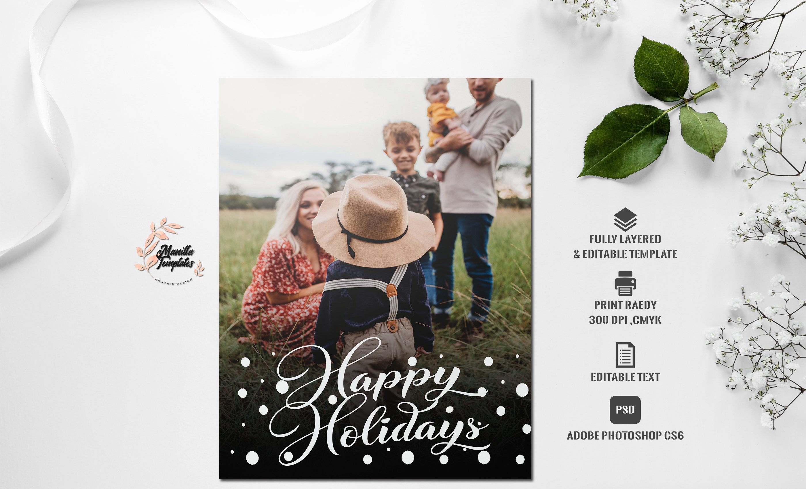 Christmas Card Photoshop Template Etsy Christmas Card Photoshop Photoshop Template Photoshop