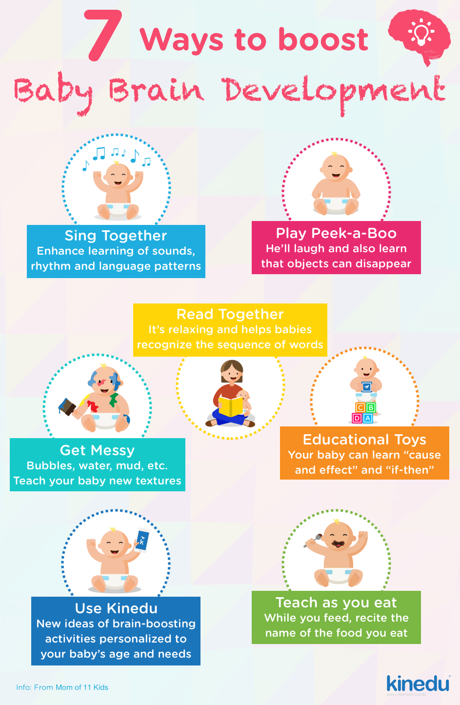 Here are 7 Ways to boost Brain Development in your baby