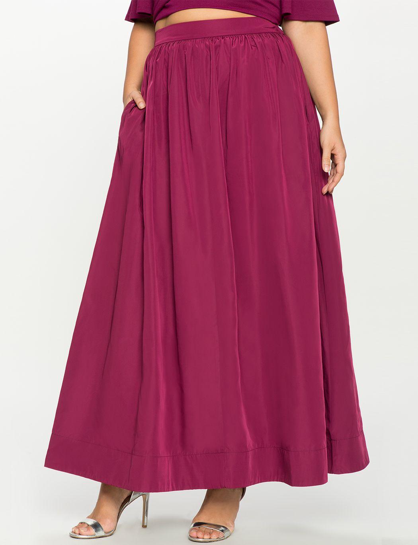 Taffeta Ball Gown Maxi Skirt | Women\'s Plus Size Skirts | Eloquii ...