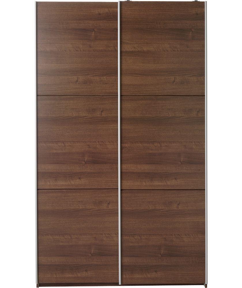 Buy heart of house bergen large sliding wardrobe walnut effect at
