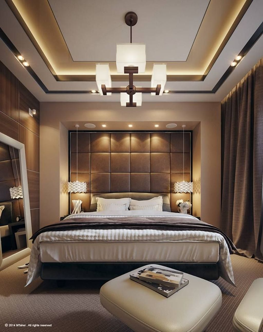 40 Affordable Ceiling Design Ideas With Decorative Lamp Luxury Bedroom Design Bedroom False Ceiling Design House Ceiling Design