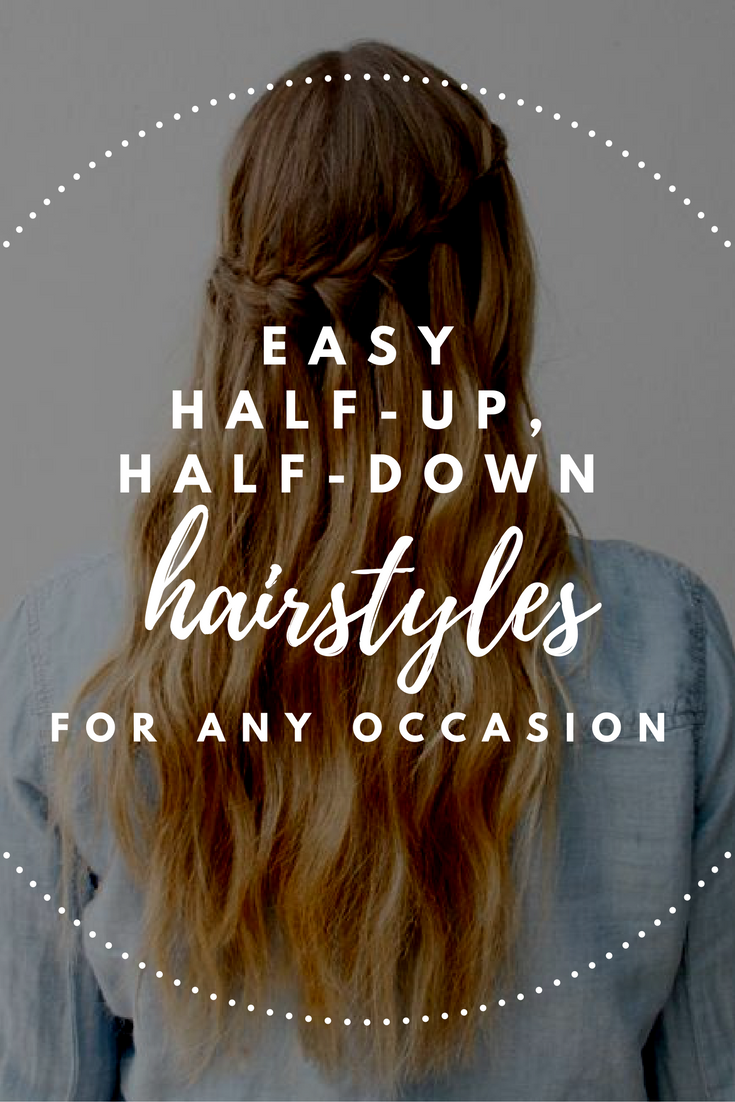 Halfup halfdown hairstyles thatull have you looking fab