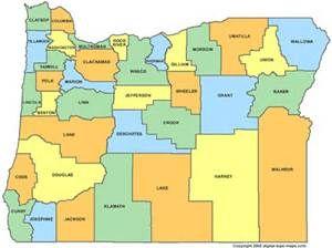 Oregon Counties Oregon Oregon Map County Map Area Map