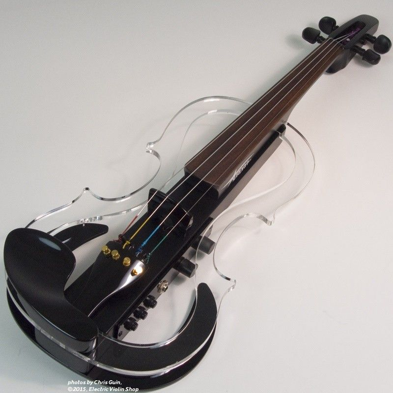 atelier silhouette electric violin clear black electric violin shop musically amazing. Black Bedroom Furniture Sets. Home Design Ideas