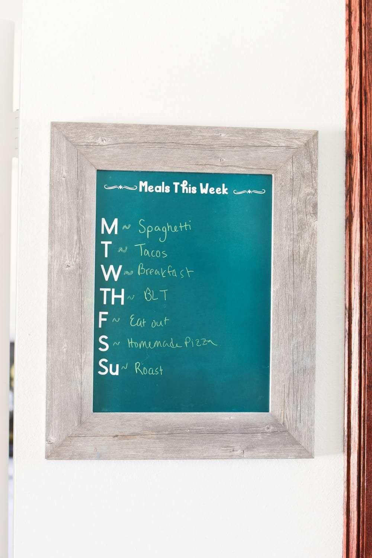 Diy dry erase calendar and menu boards with cricut diy