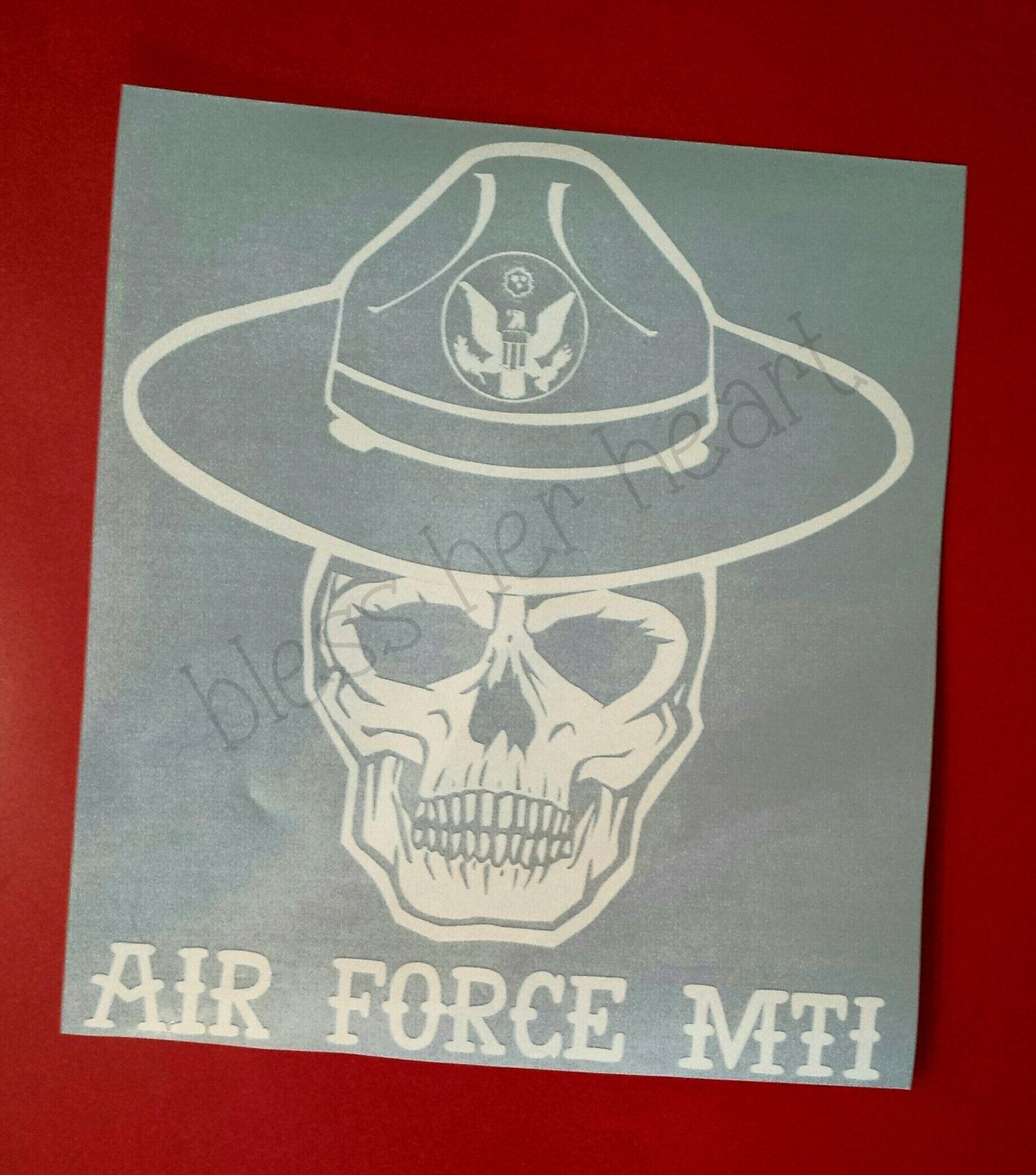 USAF Military Training Instructor MTI Decal by