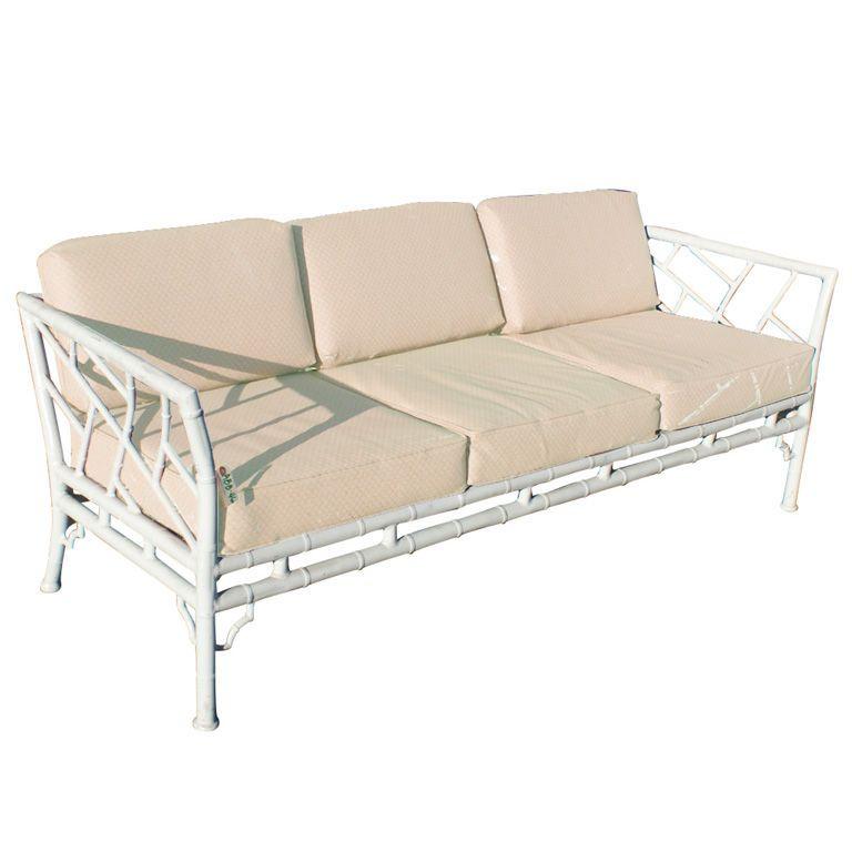 Bamboo Furniture Store: Faux Bamboo Metal Indoor Outdoor Sofa