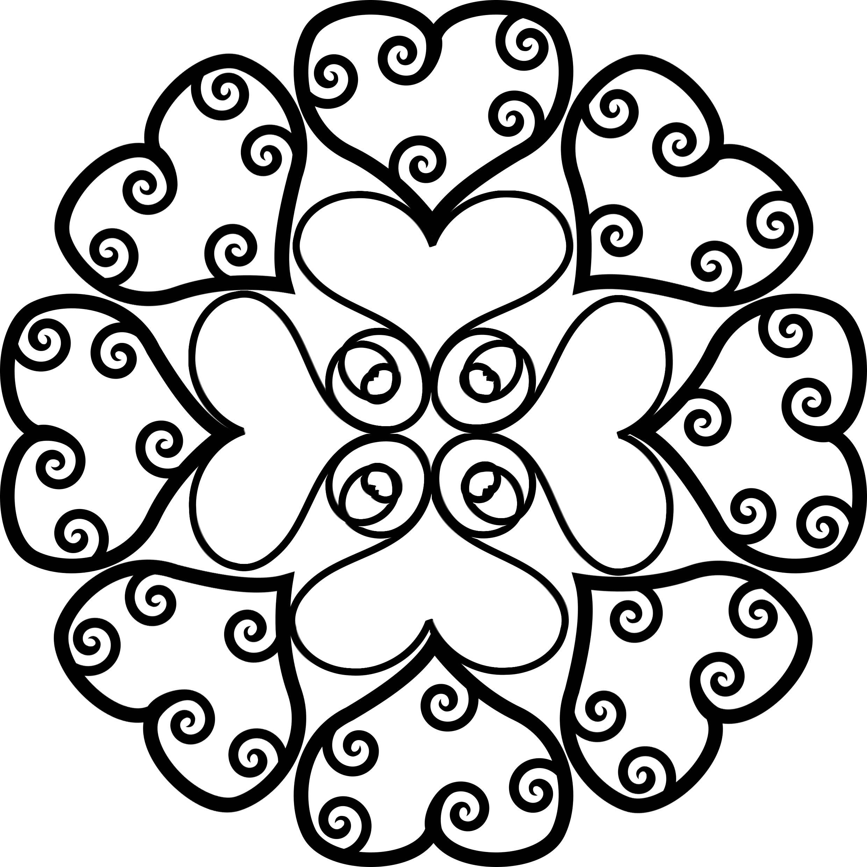Muttertag Mandala ❦ Herz & Ornament Ausmalen | Pinterest | Craft
