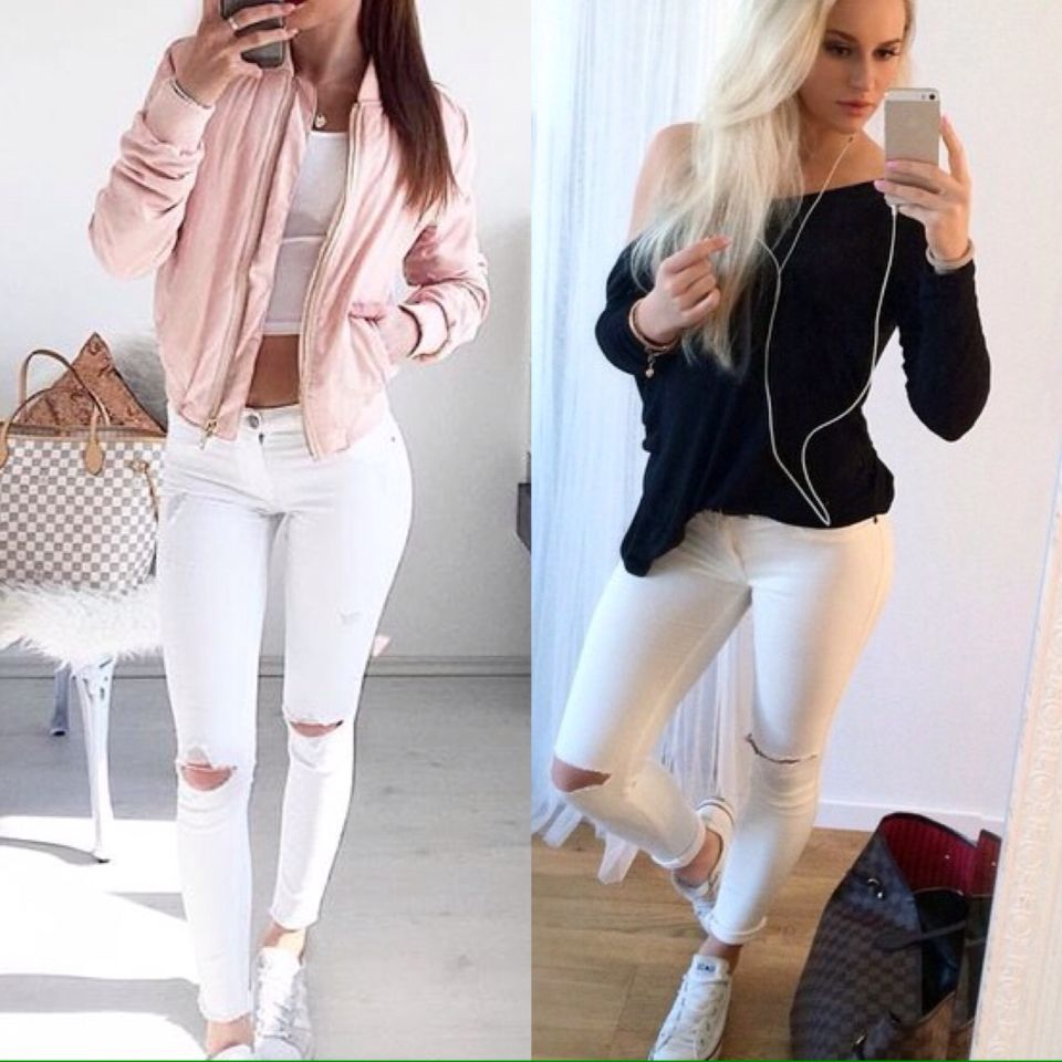 outfit witte broek