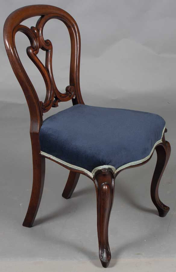 Victorian Style Balloon Back Dining Chairs