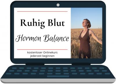 Fraulichkeit Anne Lippold kostenloser Online Kurs Ruhig Blut Hormon Balance Laptop