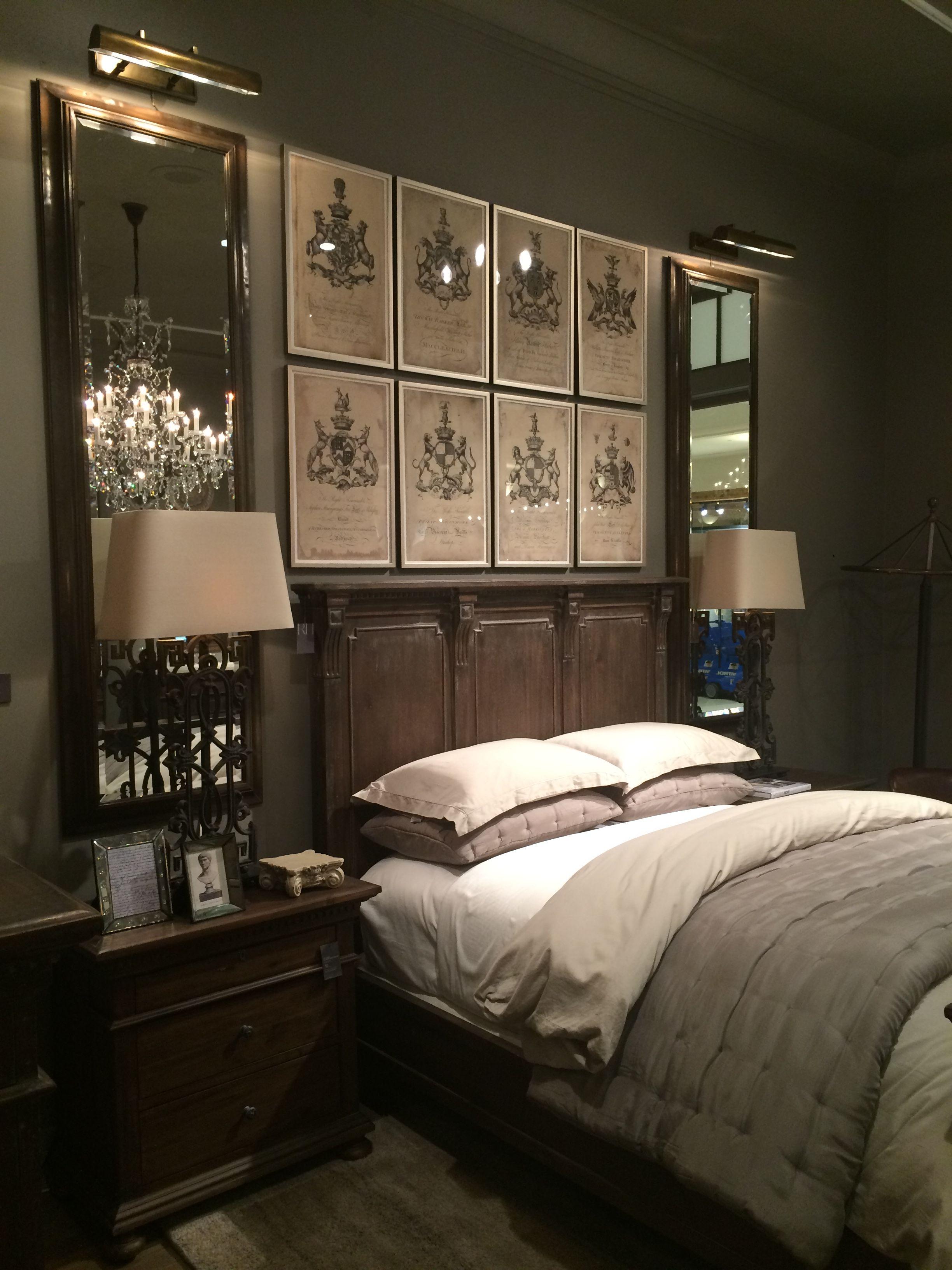home decor display at restoration hardware  restoration