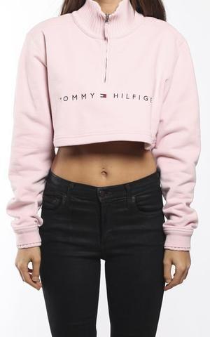 fe39d26da8de Vintage Tommy Hilfiger Crop Sweatshirt