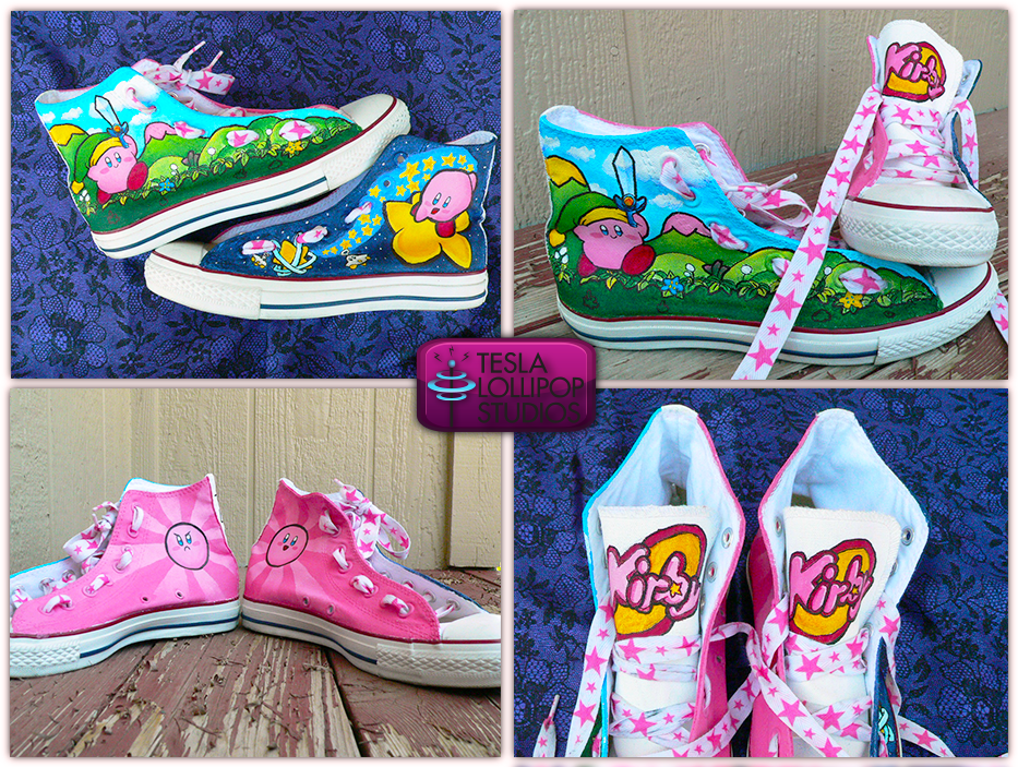 Custom kirby shoes! | Kirby, Converse chuck taylor high top
