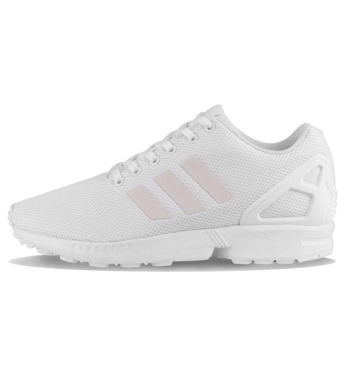 Adidas Originals ZX Flux Feather White / White - Adidas Originals The Adidas  ZX Flux in