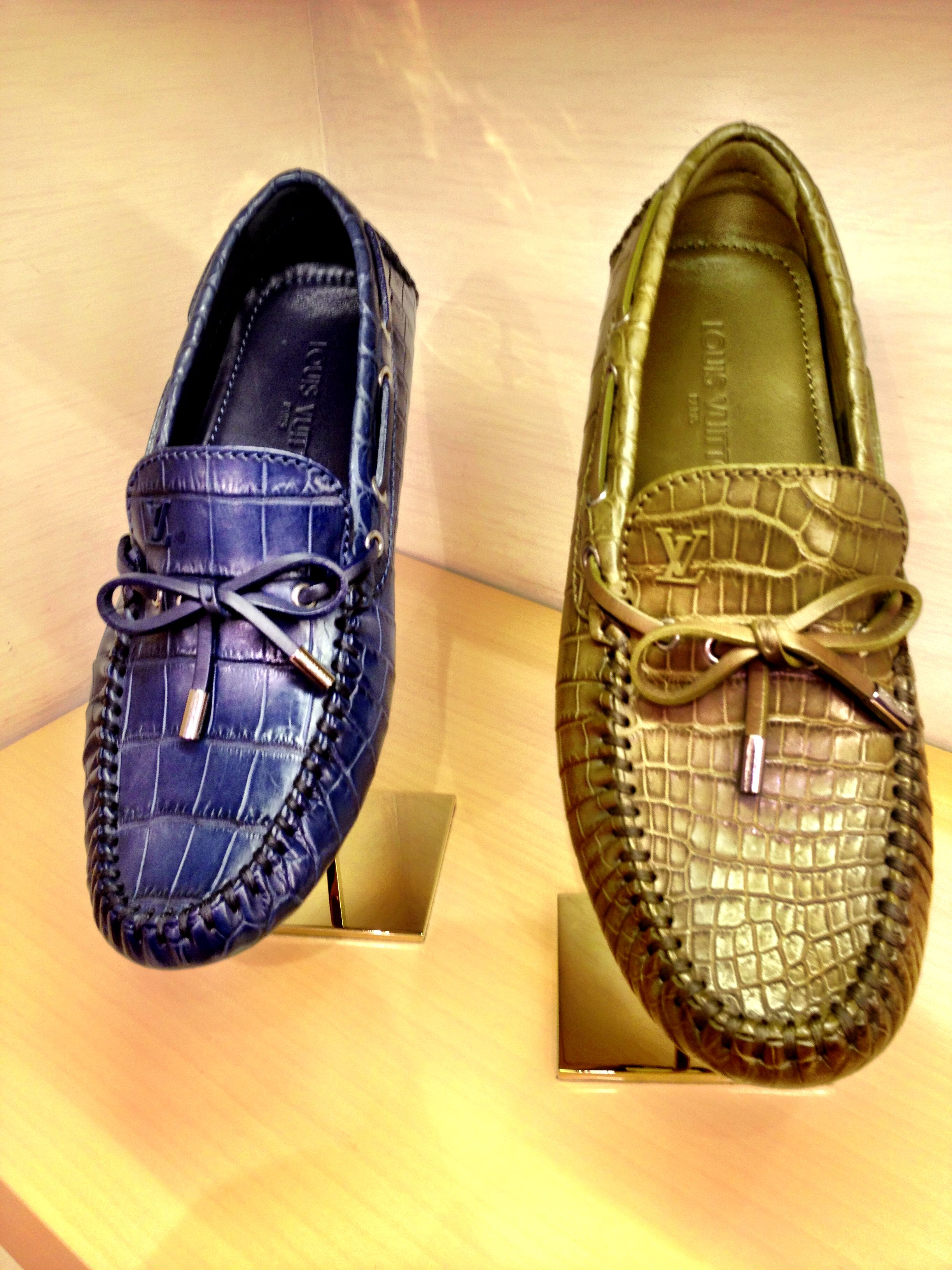 Louis Vuitton alligator loafers