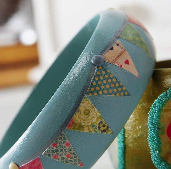 Mod Podge pennant bangle bracelet