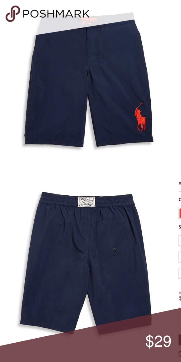 NEW POLO Ralph Lauren big pony toddler swim shorts Sanibel board shorts.  Polo Signature take
