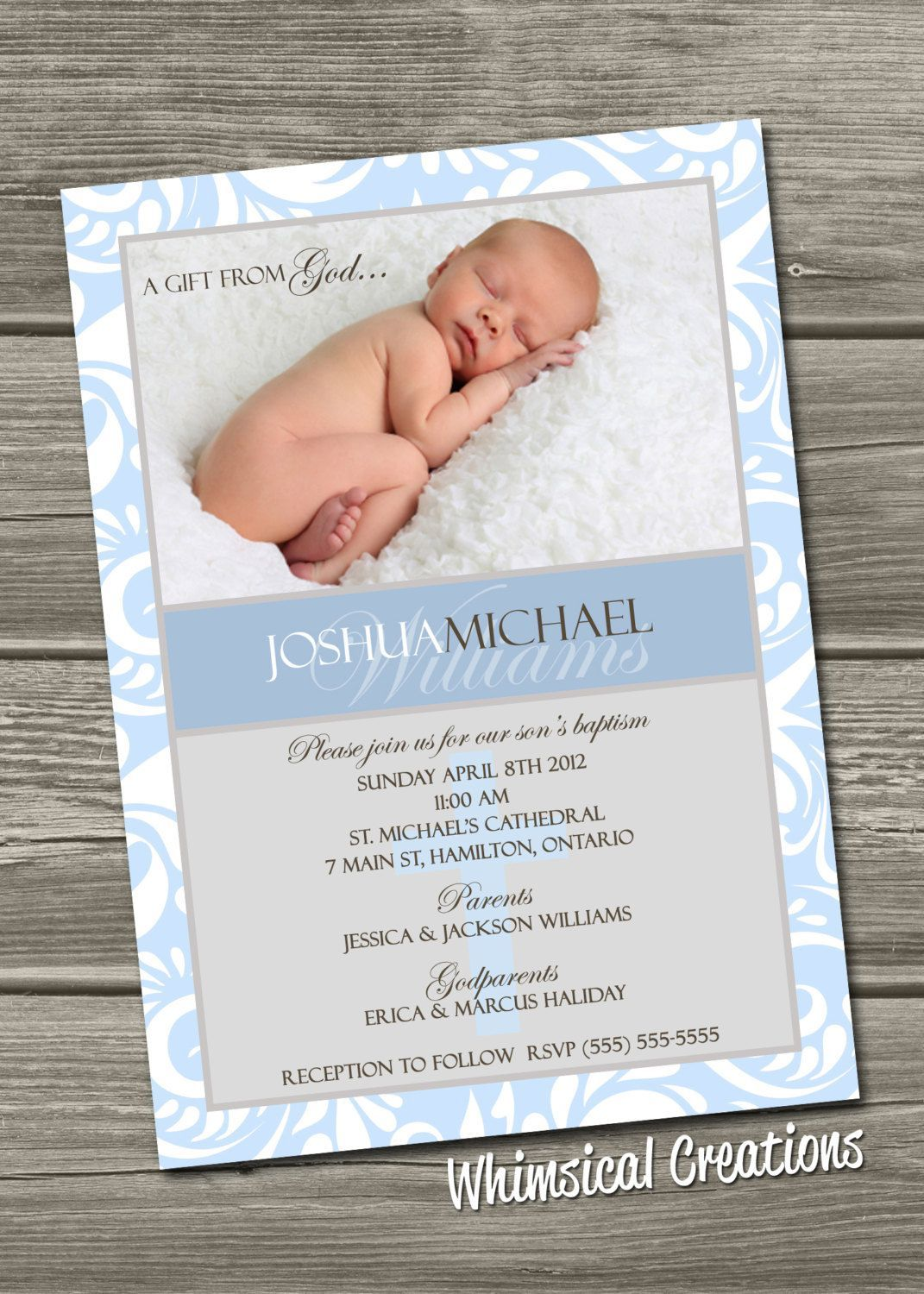All About Baptism Invitation Cards Carded Pinterest Baptism