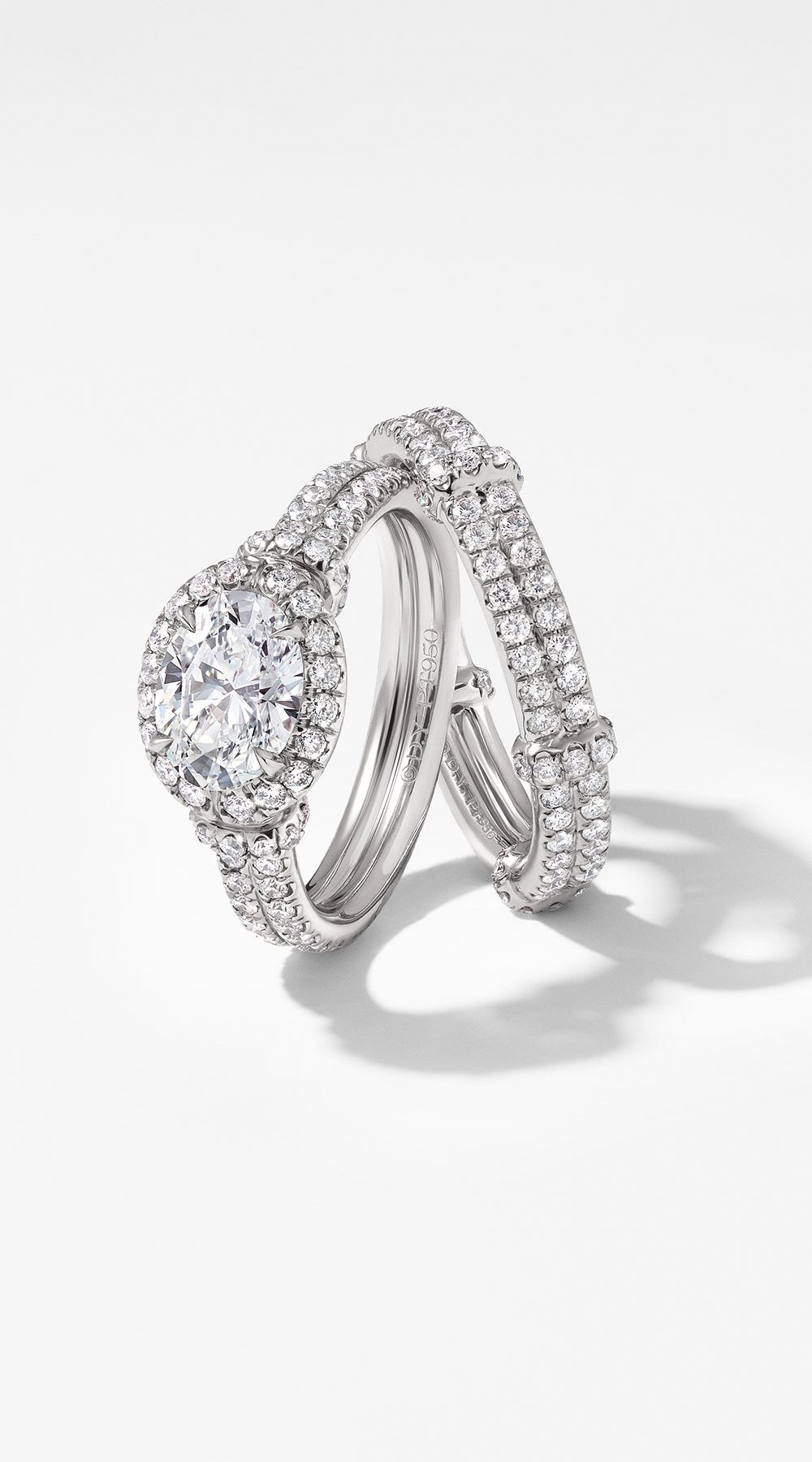 The Dy Astor Engagement Ring And Wedding Band In Platinum David Yurmanwedding