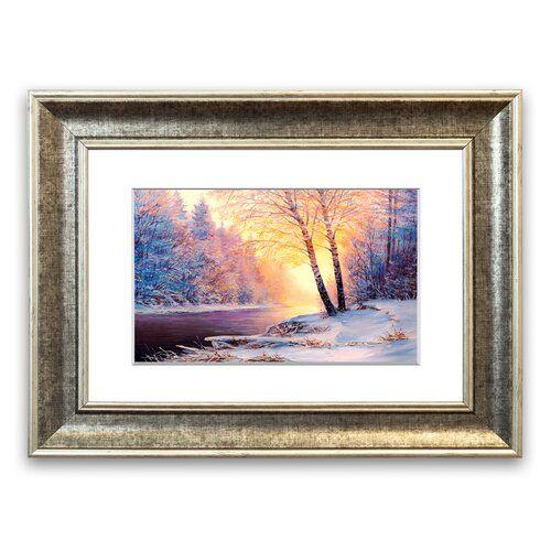 Photo of East Urban Home Framed Print Icy Winter Beauty | Wayfair.de