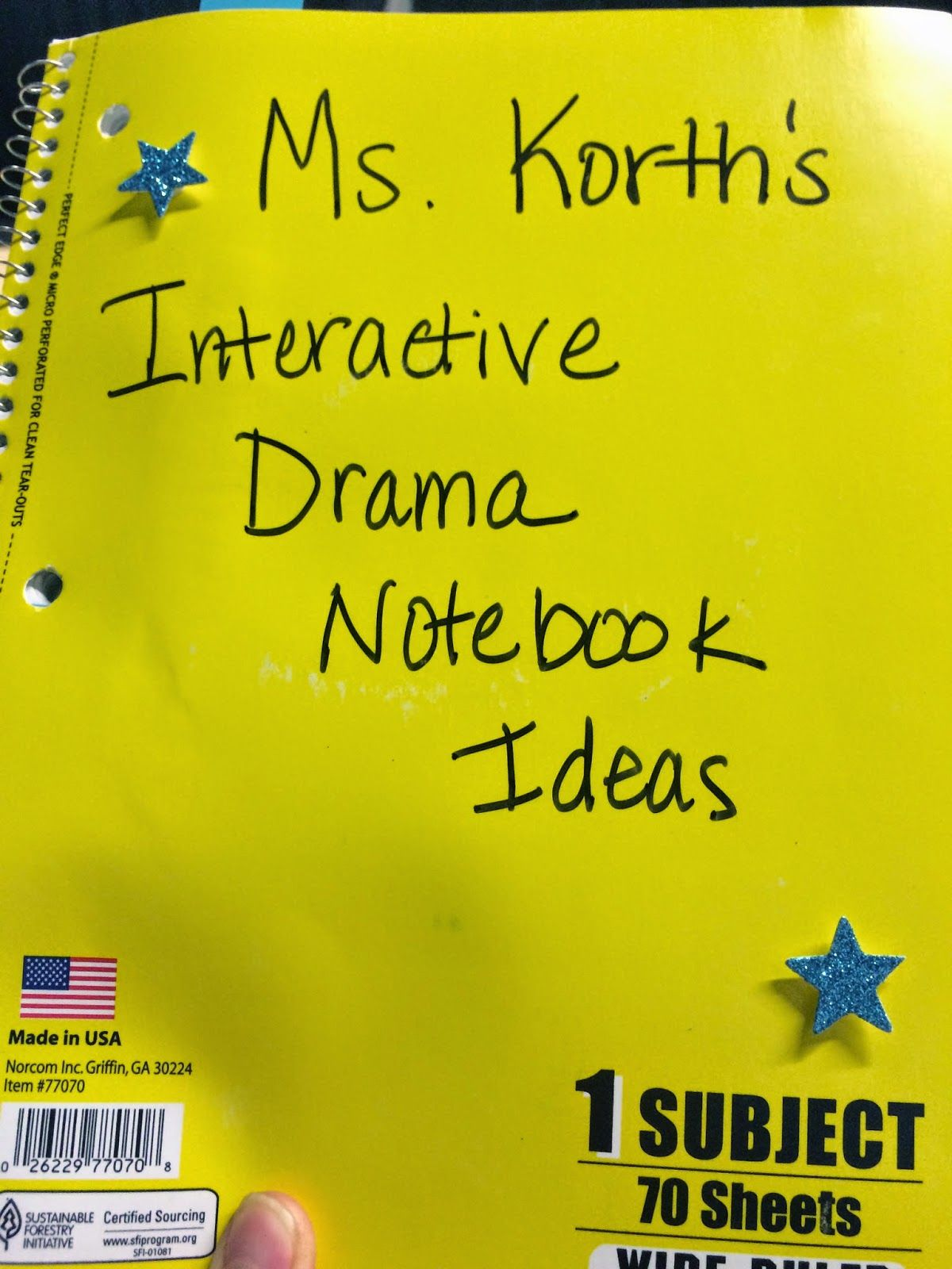 Interactive Notebook Ideas For Middle School Theatre Arts