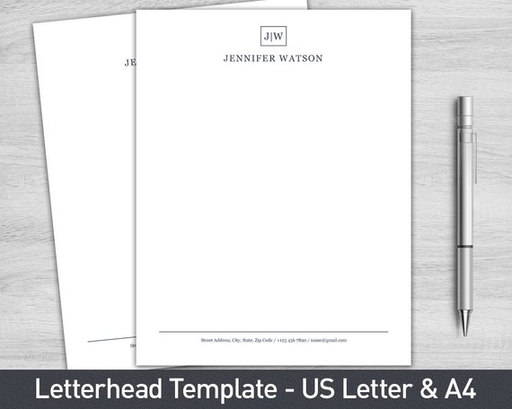 letterhead template for word personalized letterhead business