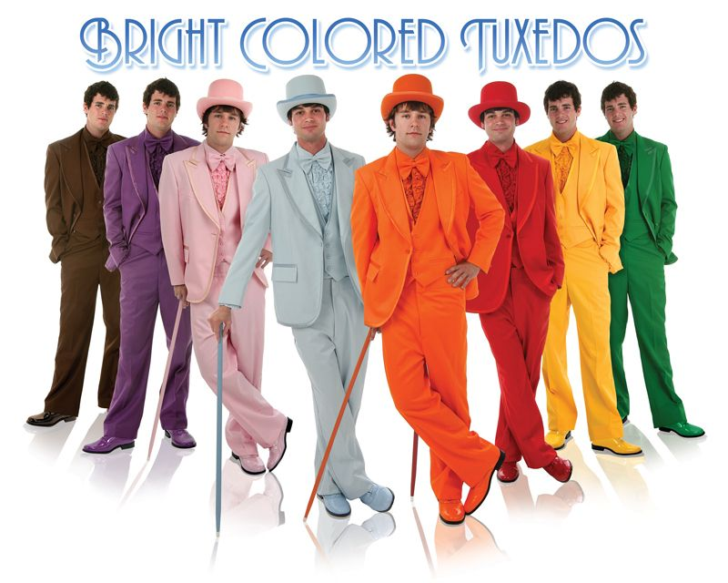 New bright colored tuxedos tux complete prom | Thankful, Prom and ...