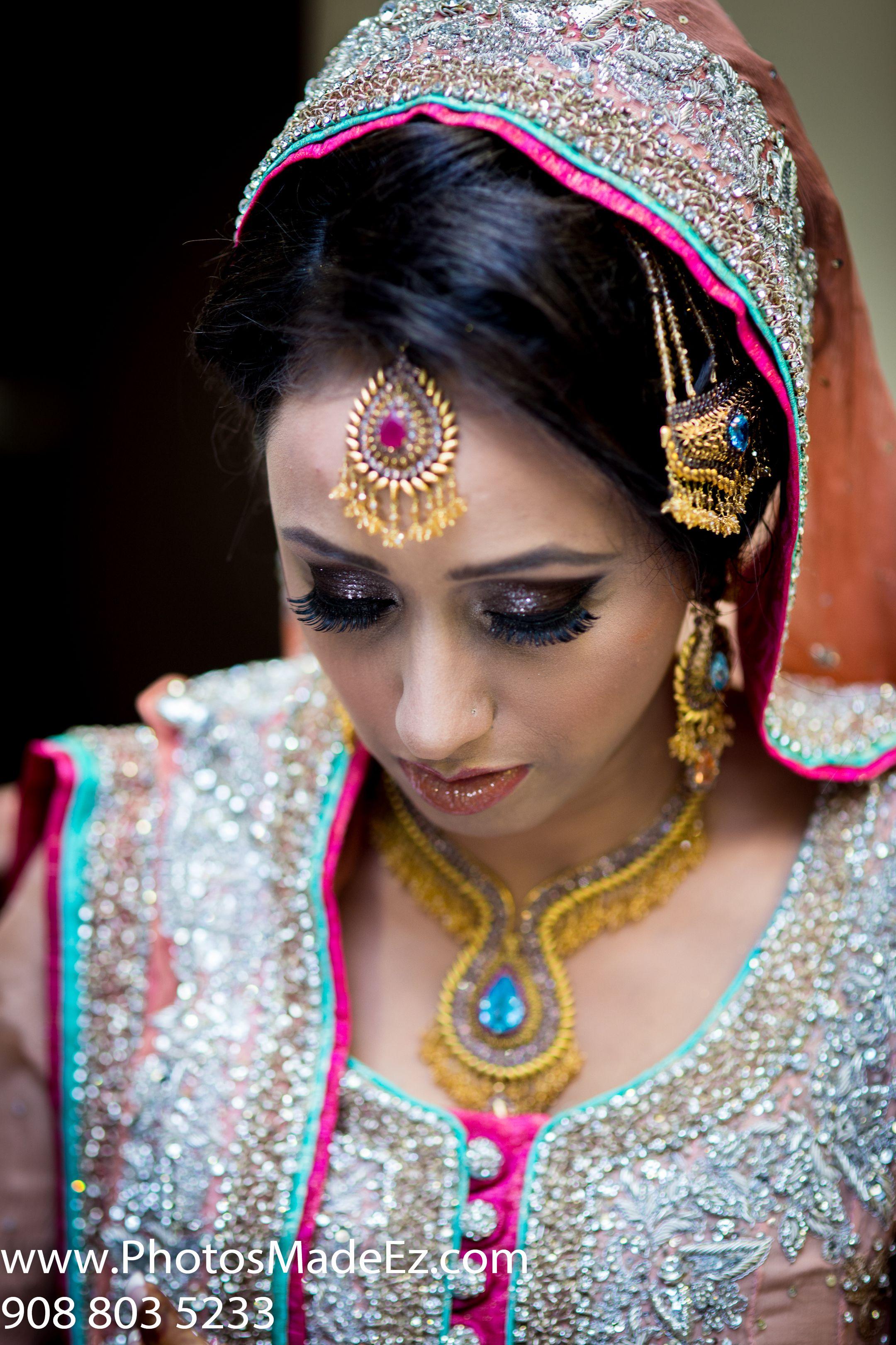Muslim Bride In Pakistani Wedding Photographer Cinematographer PhotosMadeEz With Fellow Vendors MandapsbyDhoom Make Up Artist Long Island