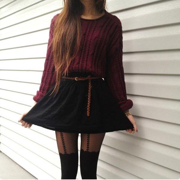 Sweater & High-Waist Skirt | Urban Outfits | Pinterest | Waist ...